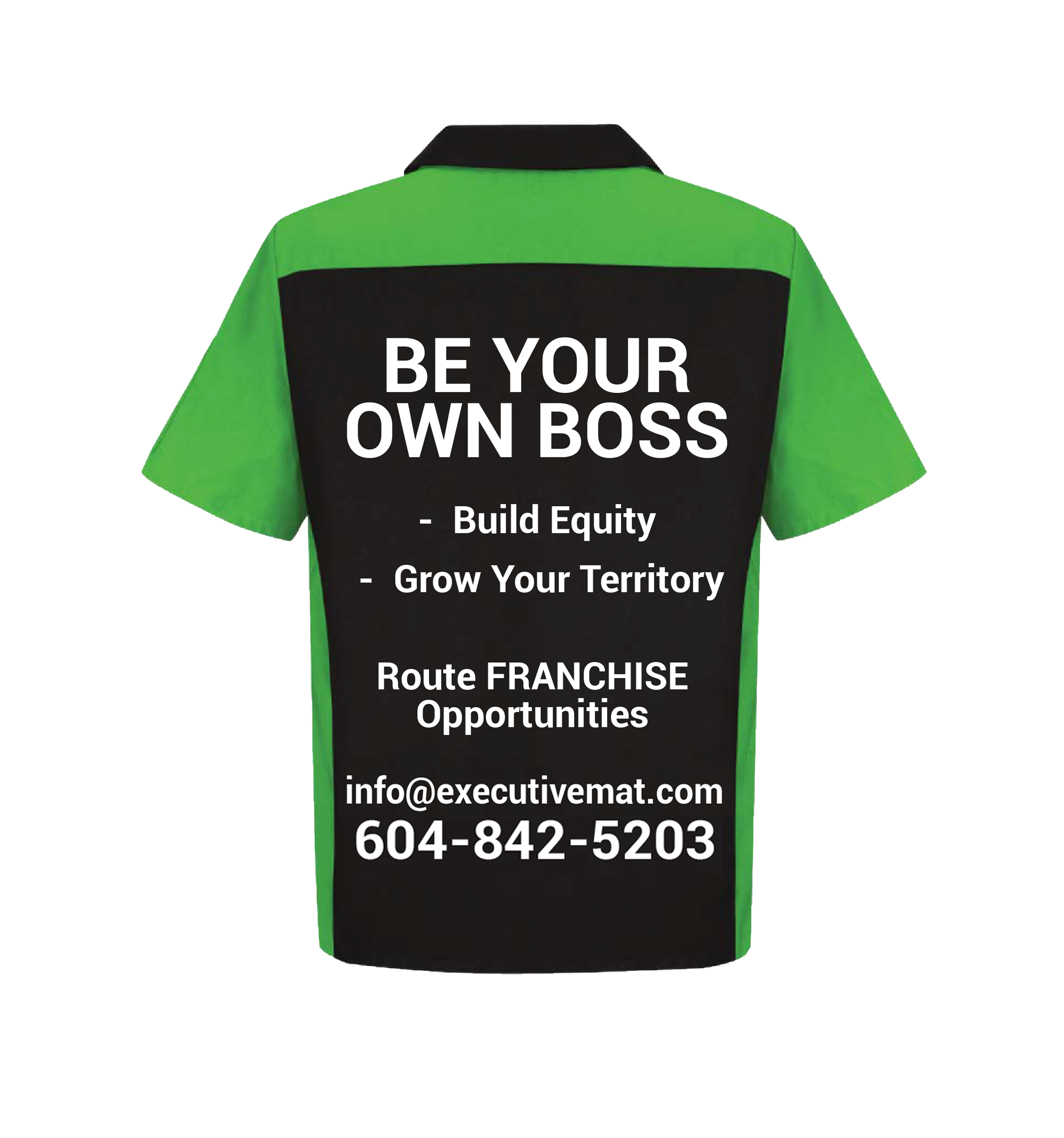 """executive mat uniform with text """"be your own boss"""""""